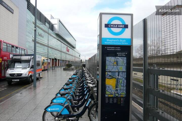 Cycle hire scheme nearby