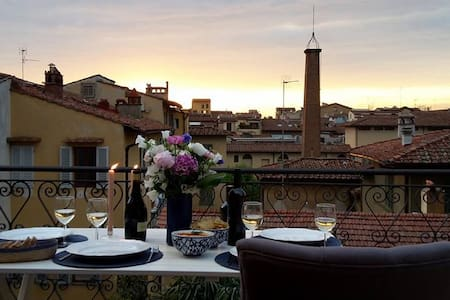 Central Apartment with Big Terrace - Florencie - Byt