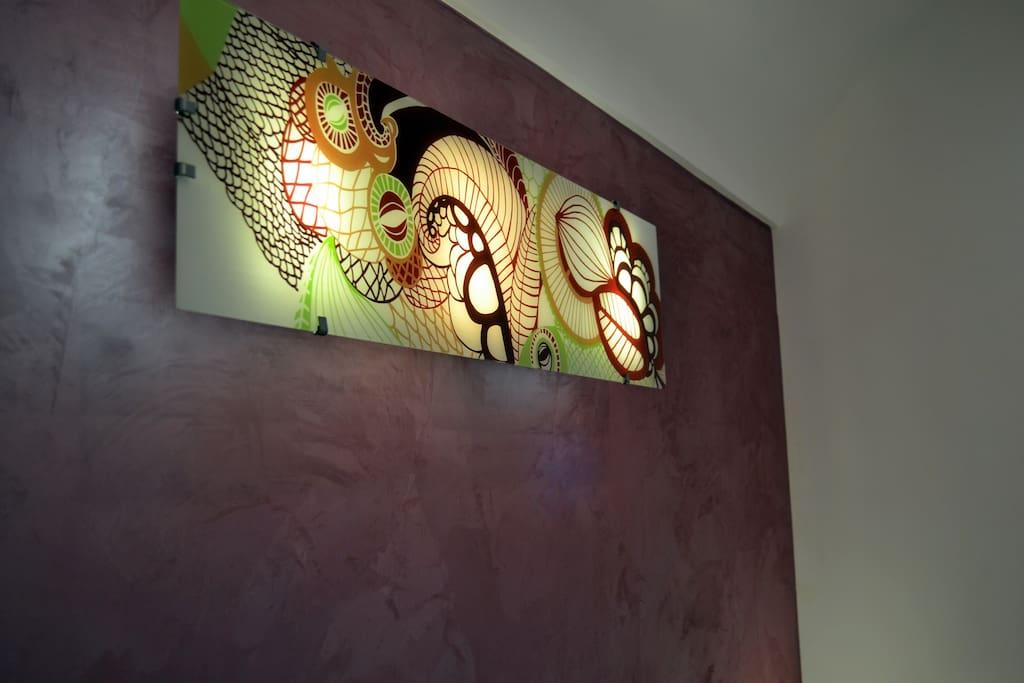 Lights in the double bedroom