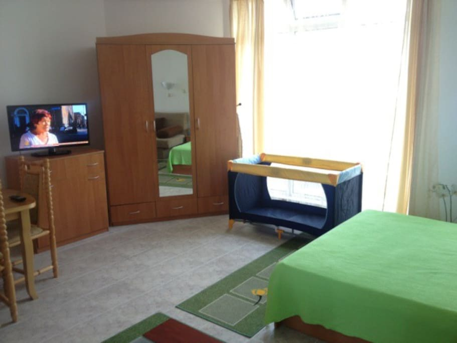 The new furnishing with the new LED TV