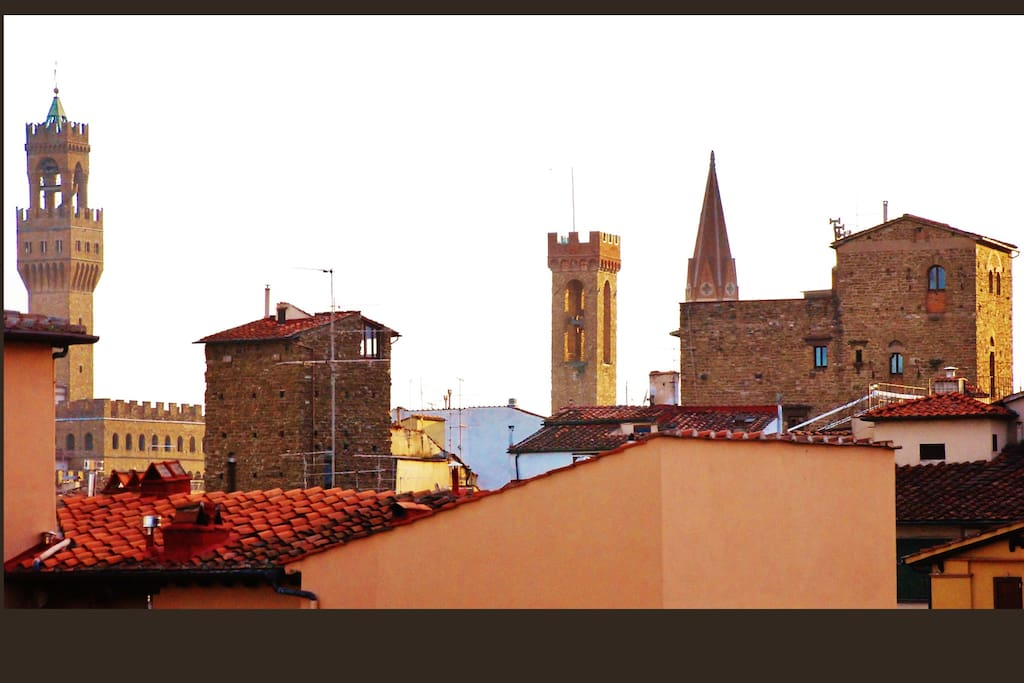 The view: Palazzo Vecchio's and Bargello's  towers