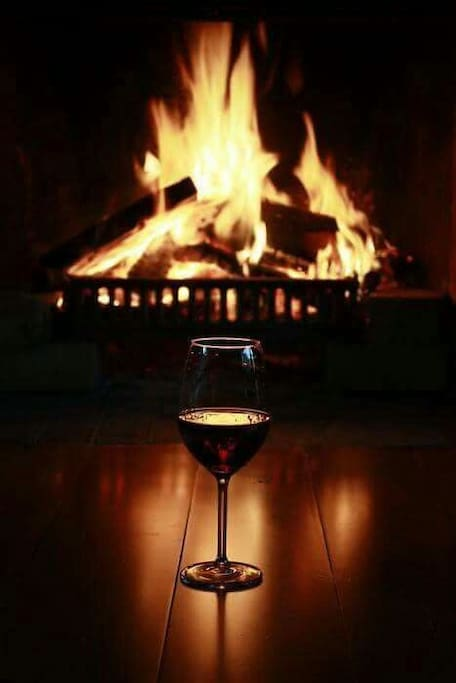 stay warm at the  fireplace.