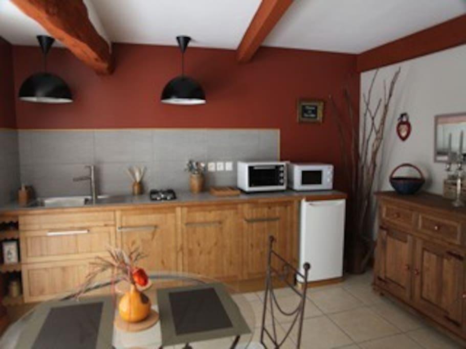 Votre gîte et sa cuisine