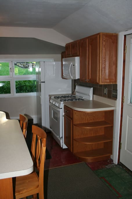Newly renovated kitchen with gas range