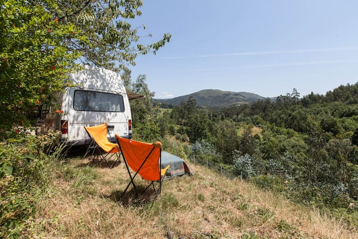 Caravan with view by the mountain - Estorãos - Campingvogn