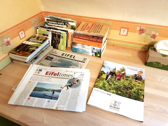 Some books and information about the Eifel