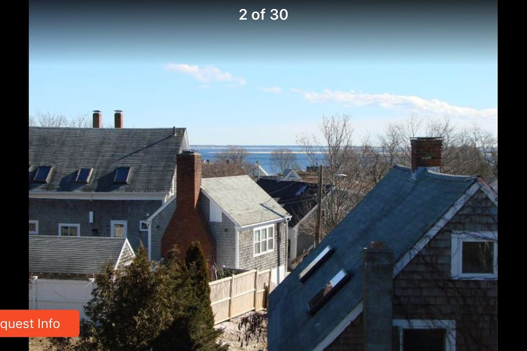 View of Cape Cod Bay, as seen from top floor Living Room/Terrace