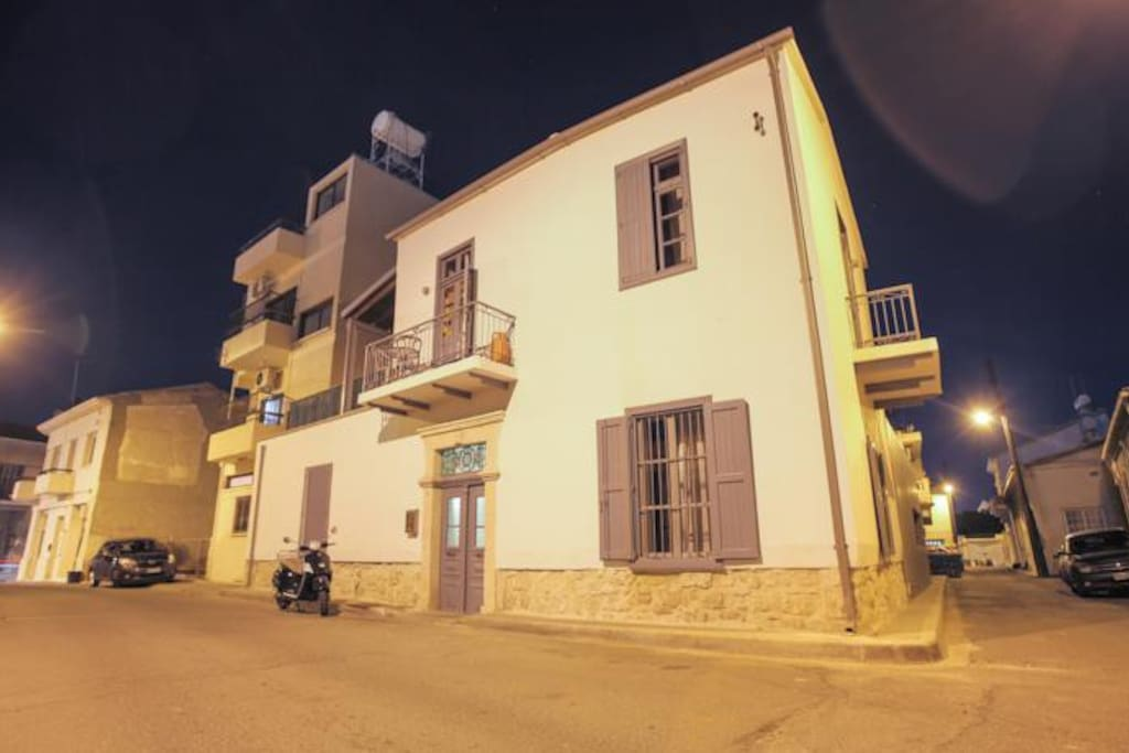St. Lazaros Studios Building by night