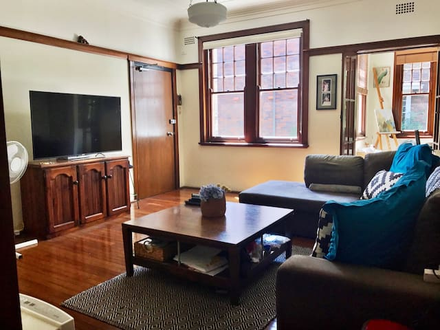 Cozy Double Bedroom near Sydney CBD & Beaches - Edgecliff - Byt