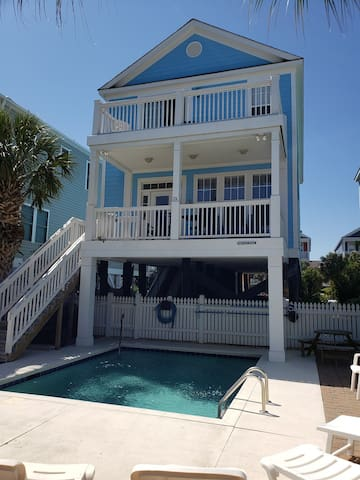 #1 Location@Surfside,Extra clean, Ocean& Dining, Pool, Golf Cart,Loaded, Extras!