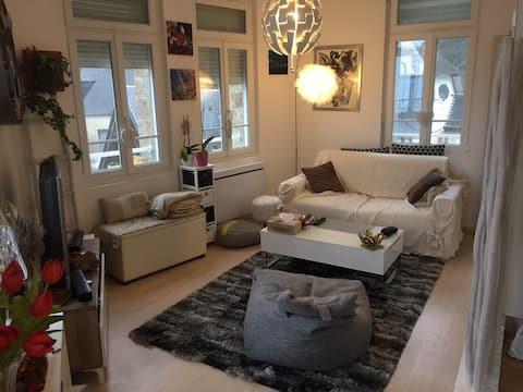 Appartement design vue mer à 50 M de la plage