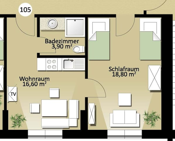 Wohnung Nr. 105 - Erdweg - Apartment