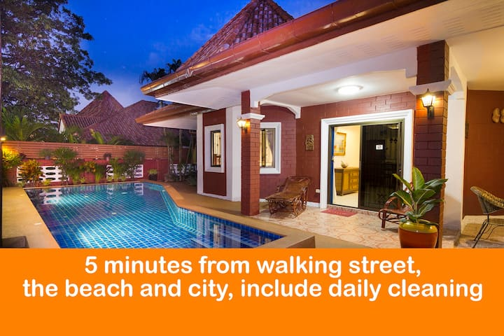 """5 minutes from """" Walking street"""" and Beach ★★★★★"""
