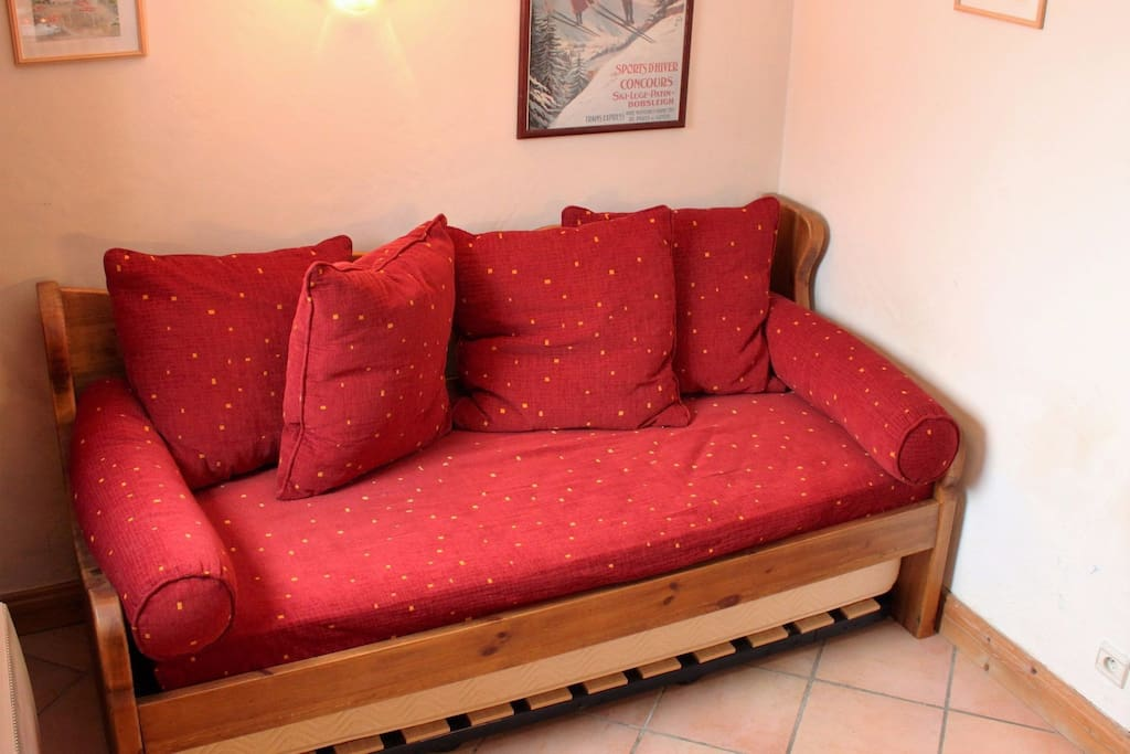 Sofa converts to two single beds