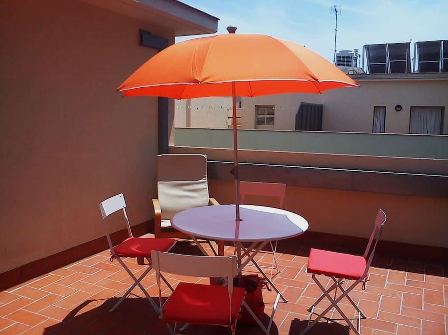 Sunny terrace for breakfast and aperitive