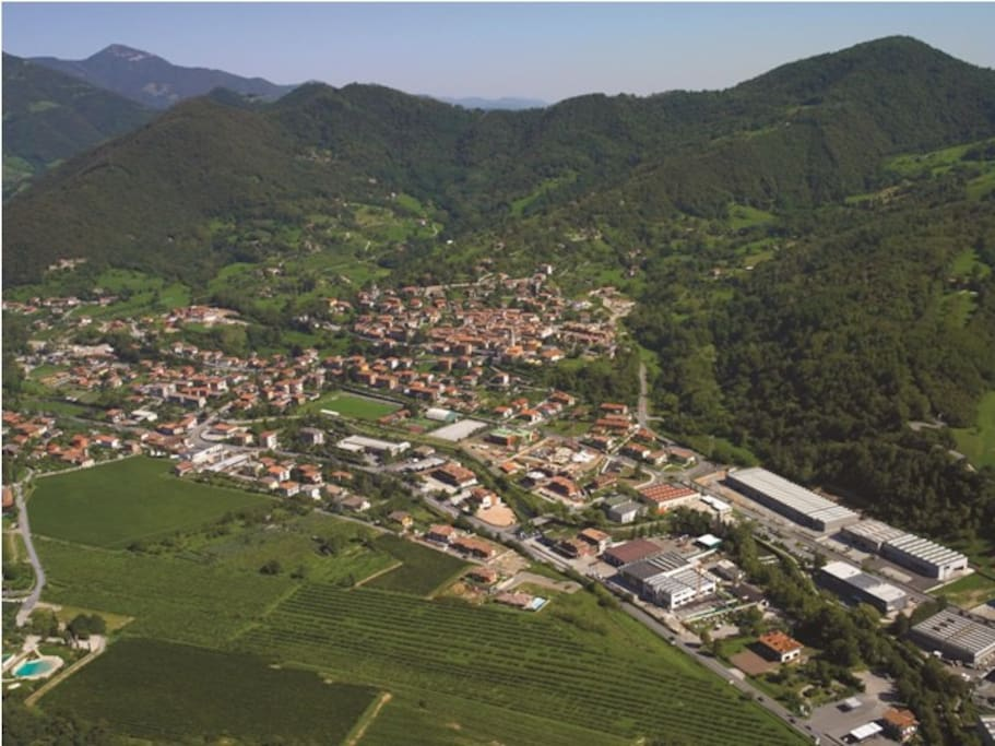 aerial view of Entratico
