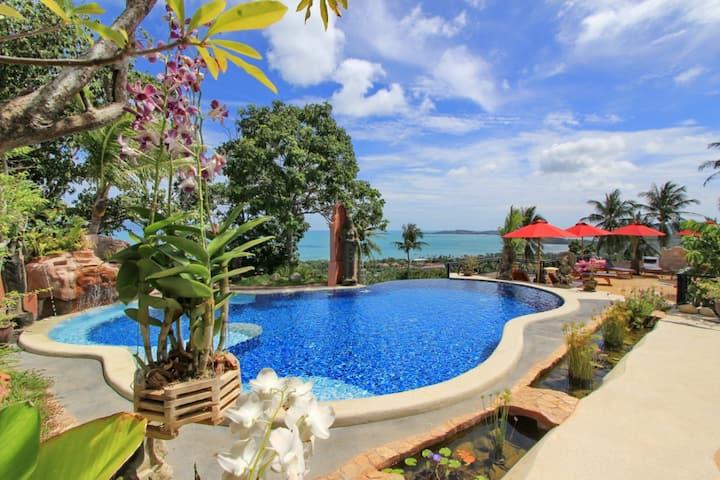 Sapparot Garden Belle villa vue mer 180° de 2 à 8
