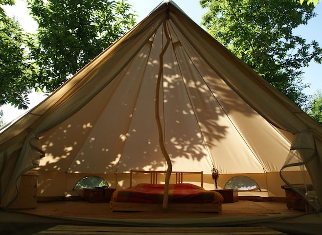 Beautiful Bell tent bed and breakfast in Portugal