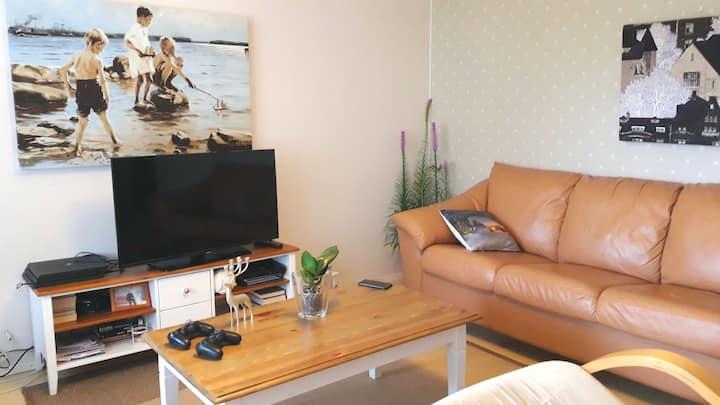 Stylish room with a sauna close to Oulu University