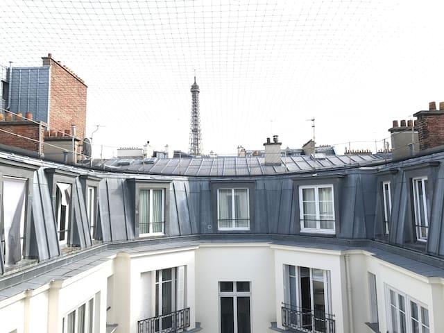 Studio avec vue Tour Eiffel à Trocadéro