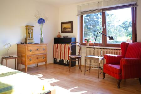 * * * only available during Octoberfest or special fairs* * *new wooden floor, nice queen size bed ( 160 x 200cm ). The room is furnished with some antique furniture and fine art.