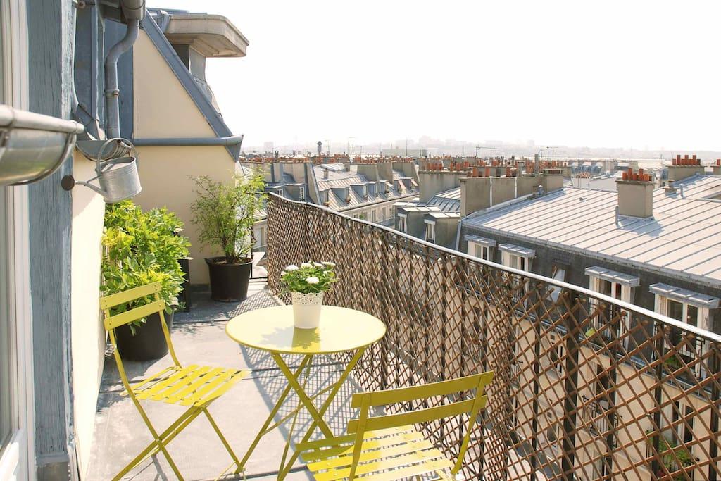 Splendide terrasse vue imprenable appartements louer Terrasse vue paris