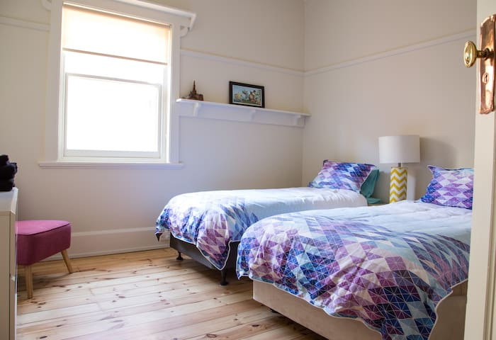 2nd bedroom~ option of joining 2x king single beds together as a  a king size bed.