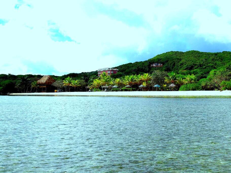 Private Lagoon, White Sand Beach and Beach Palapa Bar