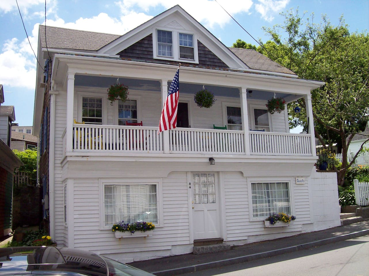 Top floor single room or 2 rooms and bath for private suite option. Private entrance off porch.