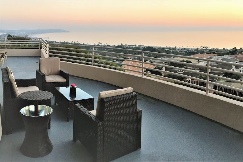 Southwest sunset view from front deck.   Guests are welcome to use patio furniture.