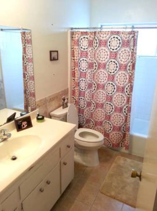 Large bathroom and Mirror