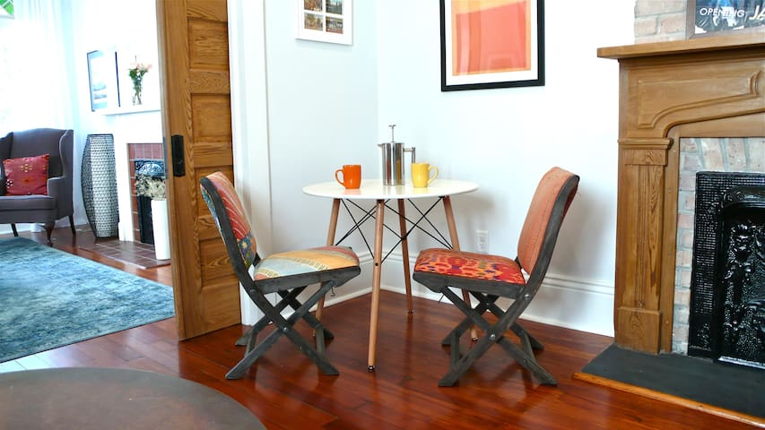 Breakfast nook perfect for your morning coffee.