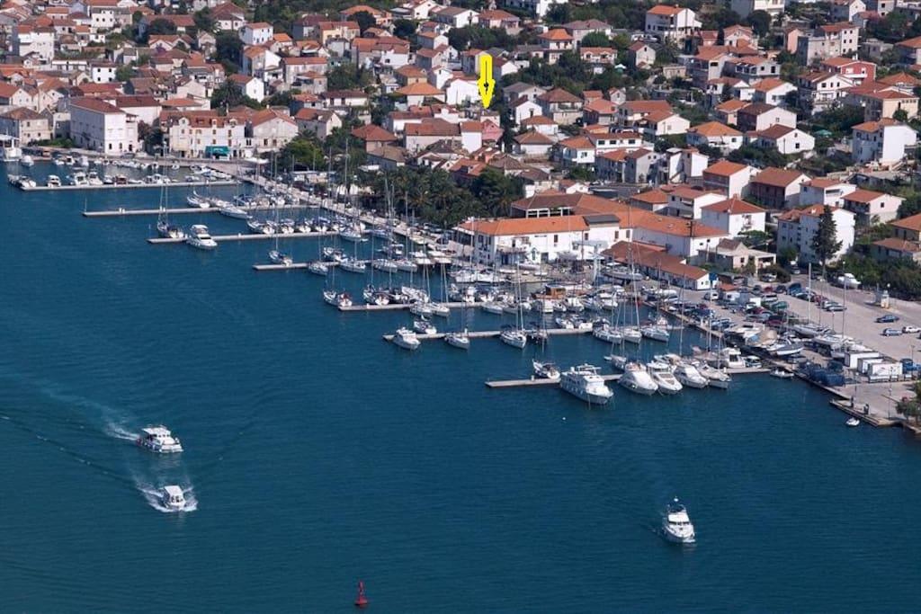 ACY Marina Trogir is very near the apartment.