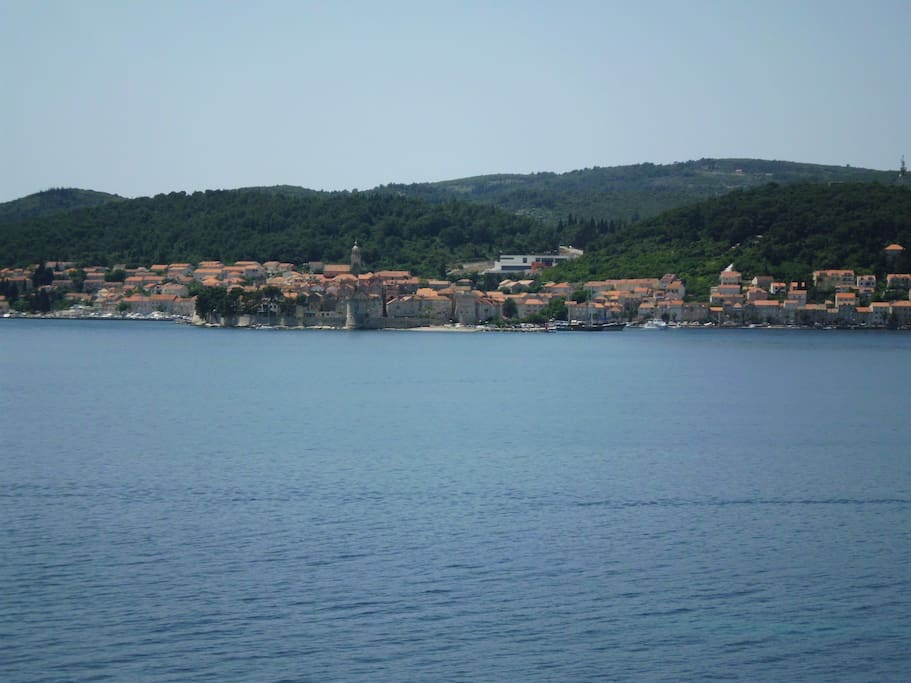 view on iland Korcula