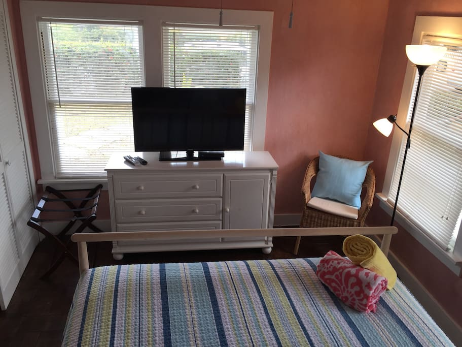 Master queen bedroom tv