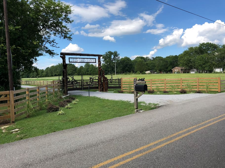 Secure Entry Gates To Twin Oaks Guest Ranch.