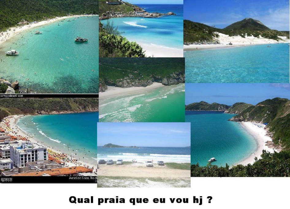 as praias de arraial do cabo.