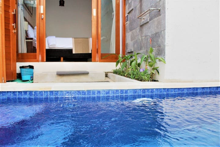 Cozy 1Br with private pool at hoki villa 107
