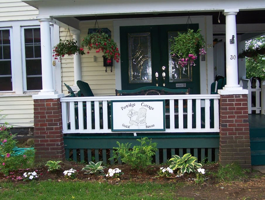 Enjoy our Adirondack porch and or patio.