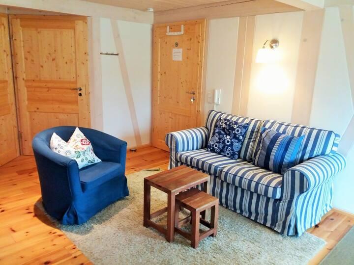 Lautertal Zinne, (Hayingen), Ferienwohnung LAUTER, 50qm, 2 Schlafzimmer, max. 4 Personen