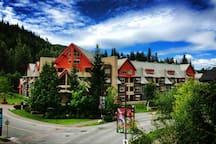 Summer view! Lake Placid Lodge, Whistler BC