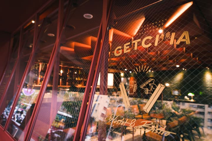 GetCha Hostel&Bistro - 4床混合房 D [ 結合餐酒館及住宿的複合型旅店 ]