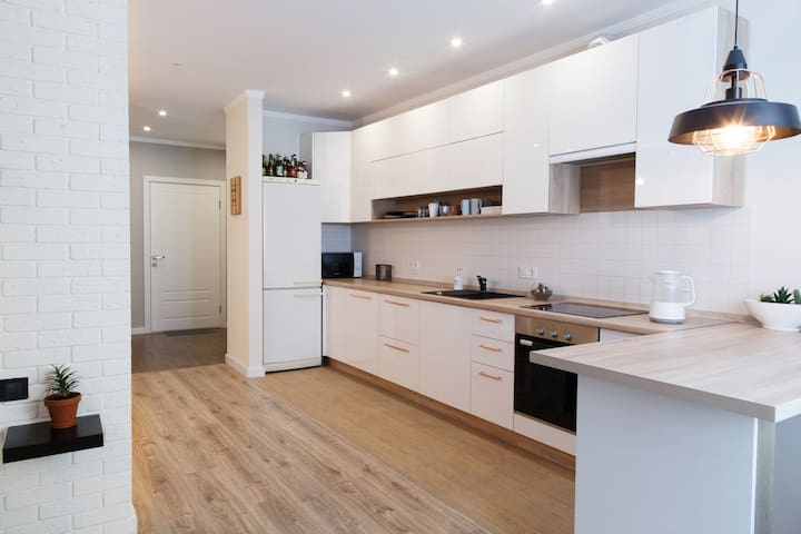 New apartment in Scandinavian style near metro