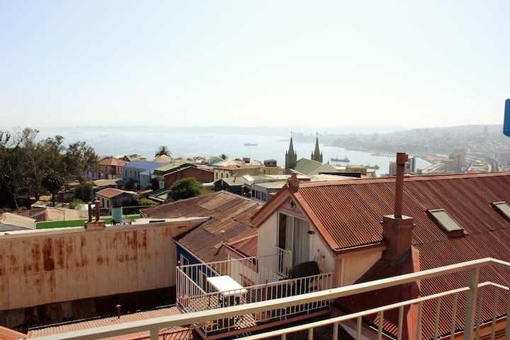 Loft dúplex en Cerro Alegre, Valparaíso - Valparaíso - Vindsvåning