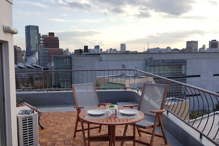 Sunny balcony 1BR ★ 2 mins Roppongi - Minato-ku