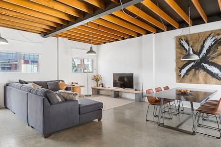 Stunning warehouse apartment moments to waterfront