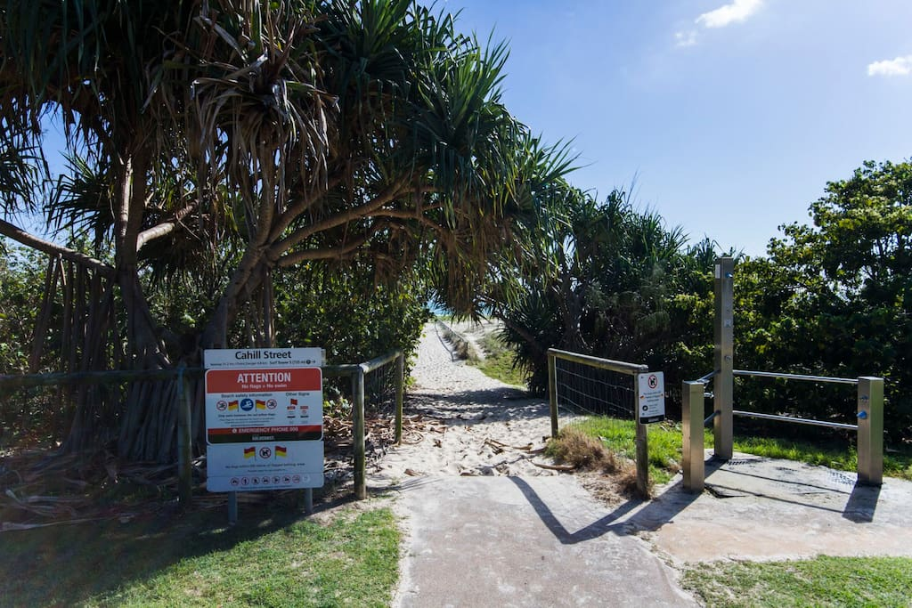 Our beach entrance