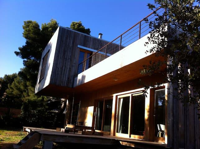 maison bois contemporaine - Marsylia - Dom