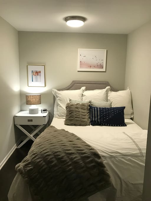 Private Bedroom is Lower Level with Queen Bed