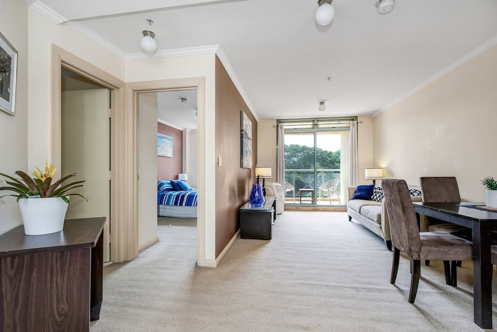 Large open plan living space with lovely views over Pacific Park